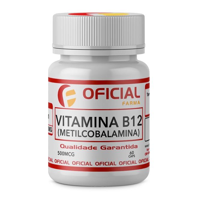 Vitamina B12 500Mcg 60 Caps