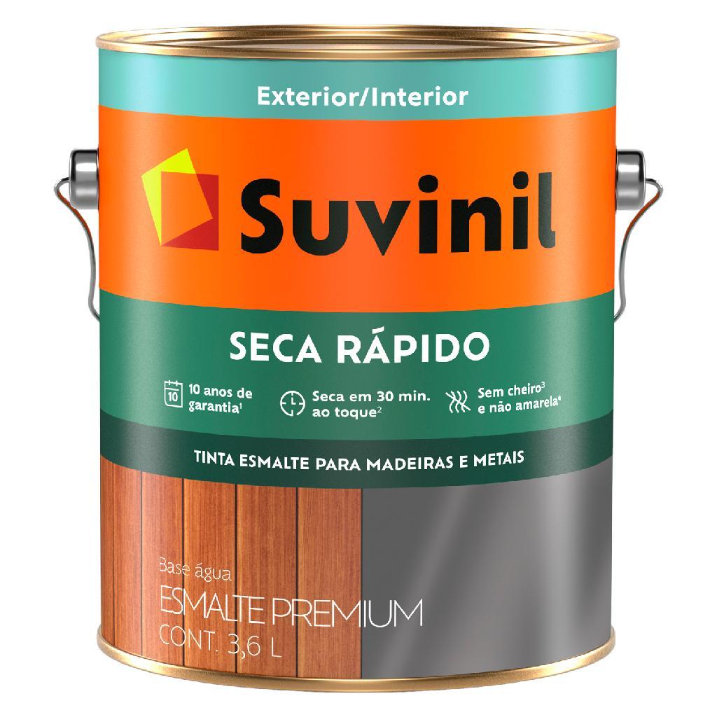 Tinta Esmalte Sintético 3,6lts Brilhante Seca Ráp. Bco B.Água Suvinil