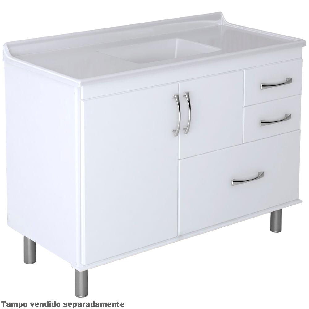 Armário Cozinha 120Cm Supremo Branco 5850-02 A.j. Rorato