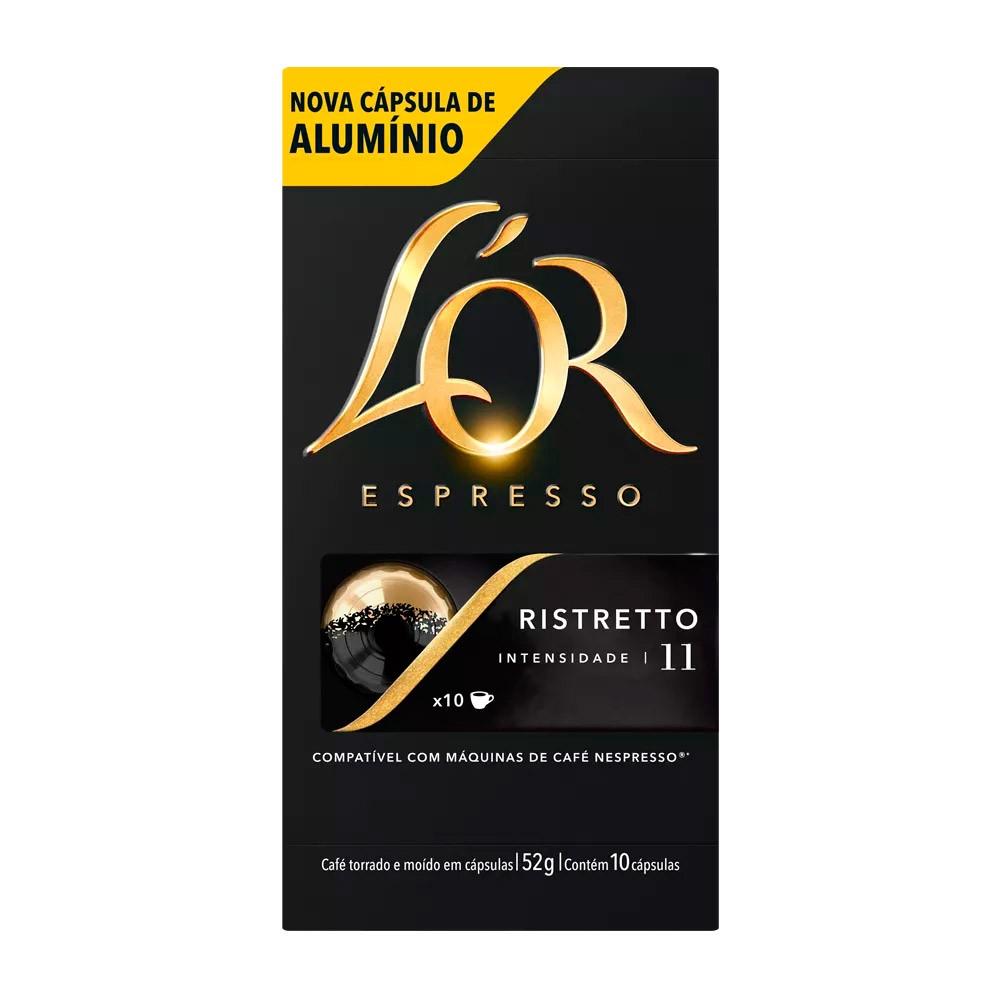 Cápsulas de Café L'or Ristretto - Compatíveis com Nespresso® - 10 un.