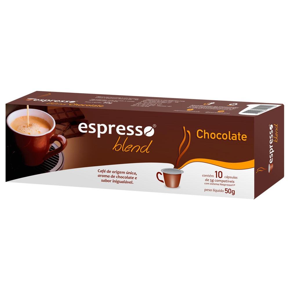 Cápsulas de Café Espresso Blend Chocolate - Compatíveis com Nespresso® - 10 un.
