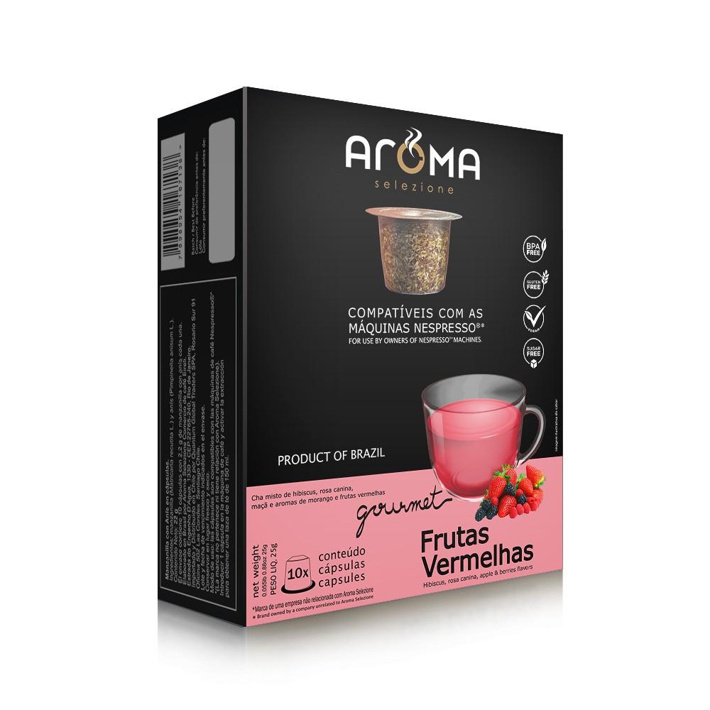 Cápsulas de Chá Frutas Vermelhas Aroma - Compatíveis com Nespresso® - 10 un.