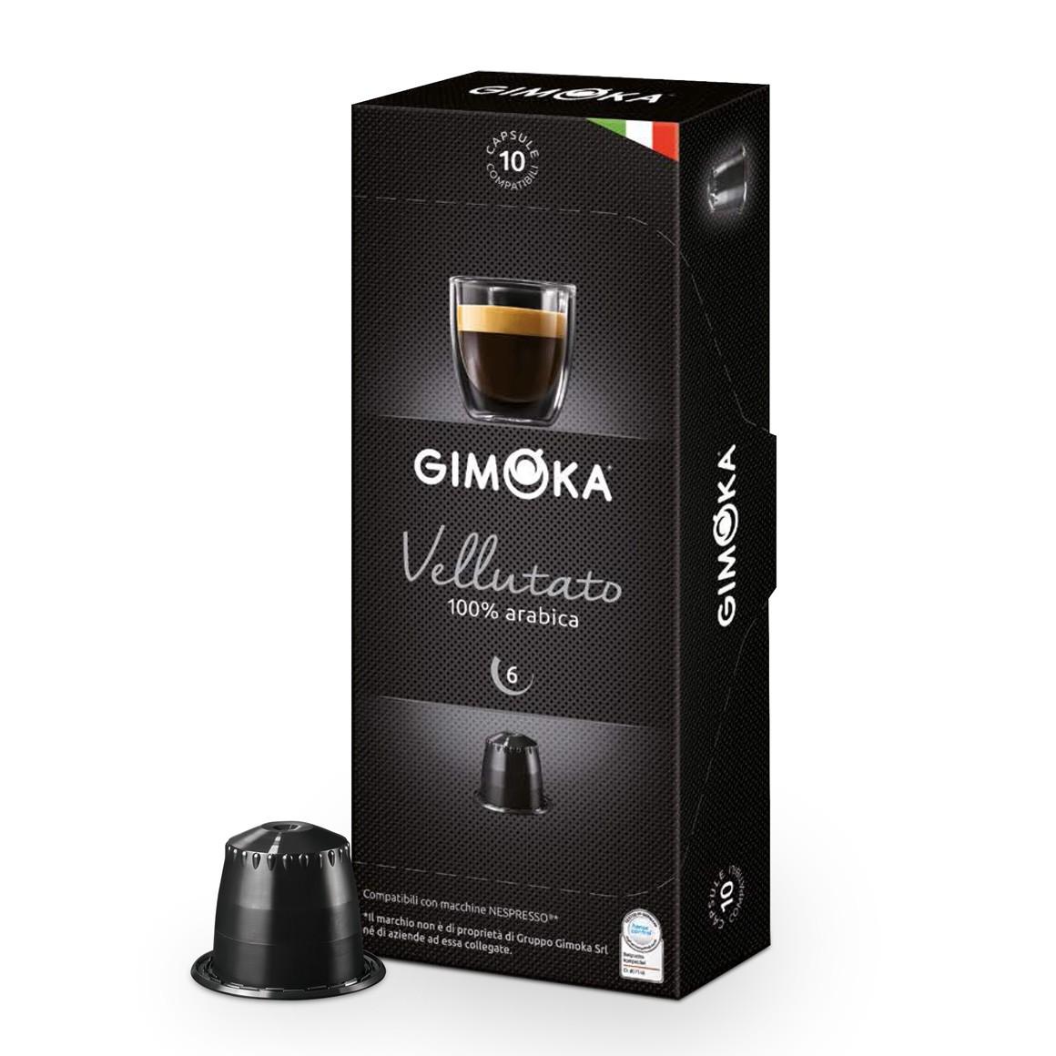 Cápsulas de Café Espresso Gimoka Vellutato - Compatíveis com Nespresso® - 10 un.