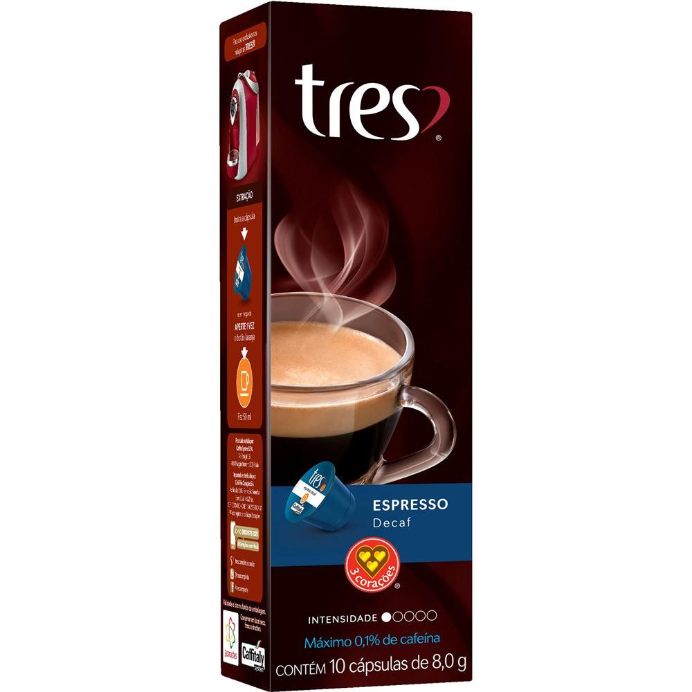 Cápsulas de Café Espresso Decaf 3 Corações - 10 un