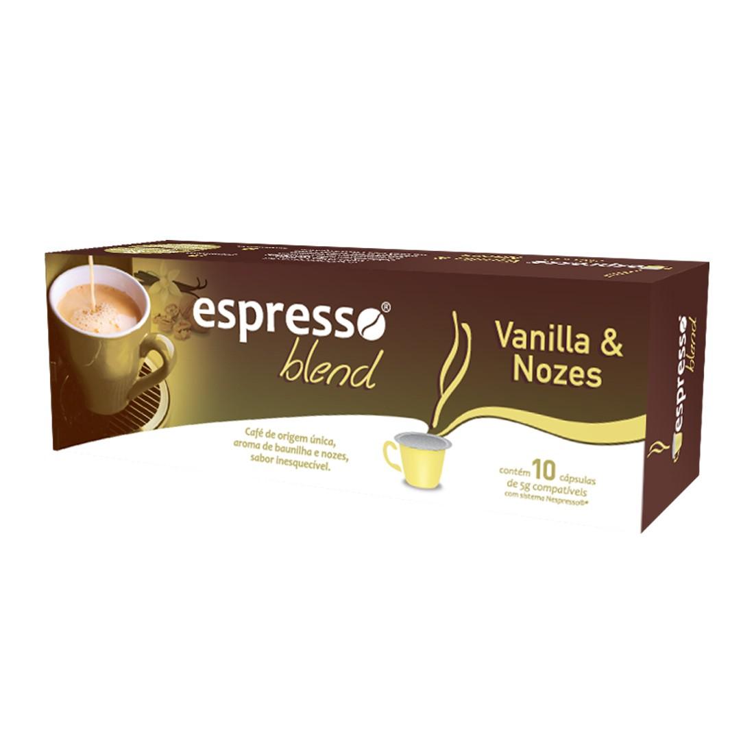 Cápsulas de Café Espresso Blend Vanilla e Nozes - Compatíveis com Nespresso® - 10 un.
