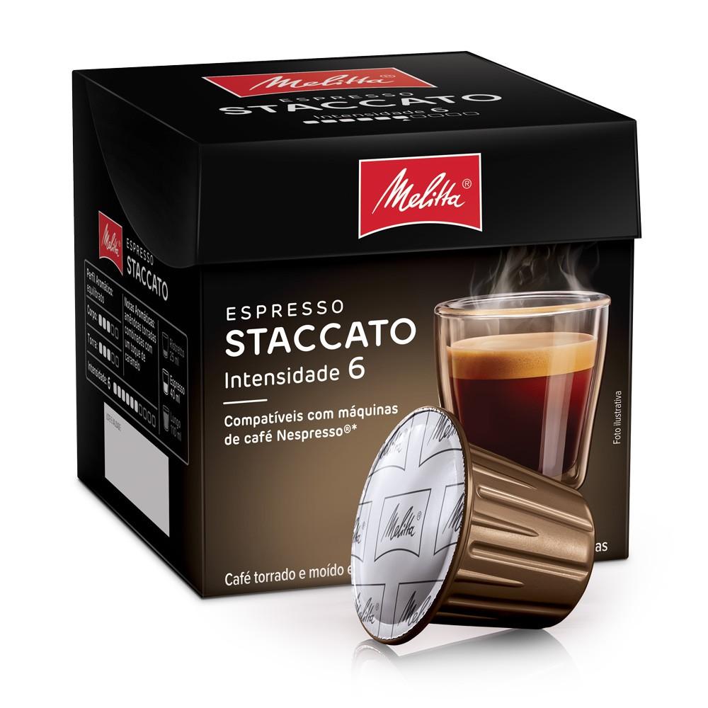 Cápsulas de Café Espresso Melitta Staccato - Compatíveis com Nespresso® - 10 un.