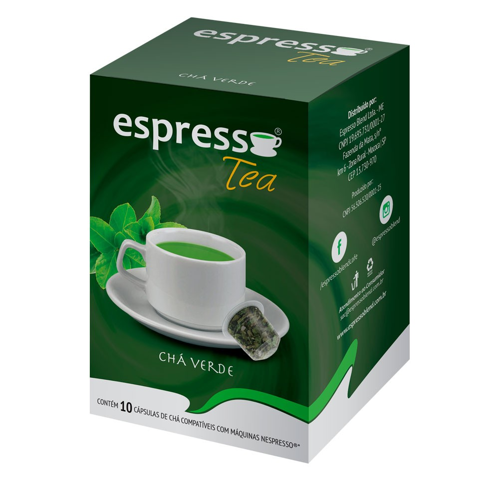 Cápsulas de Café Espresso Tea Chá Verde - Compatíveis com Nespresso® - 10 un.
