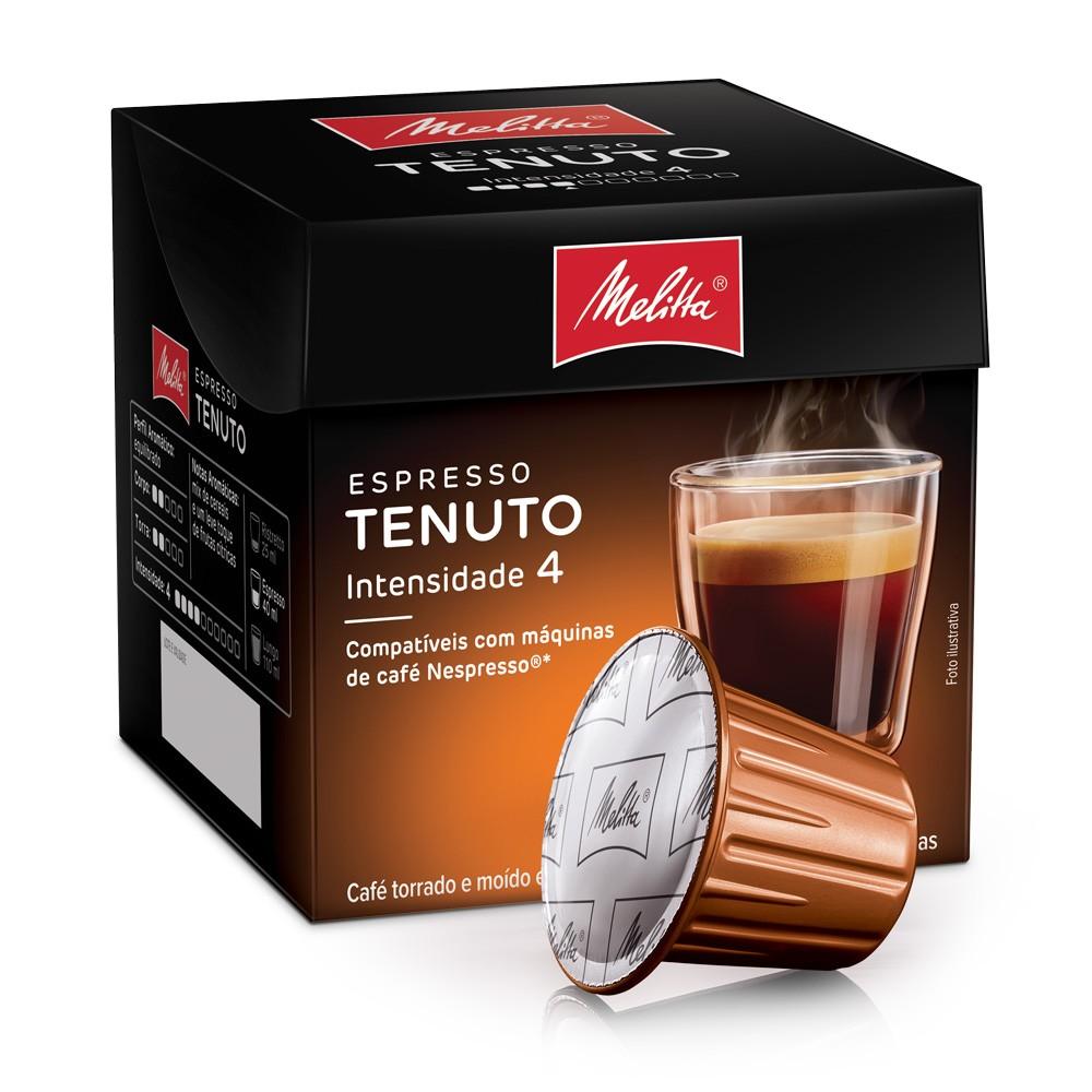 Cápsulas de Café Espresso Melitta Tenuto - Compatíveis com Nespresso® - 10 un.