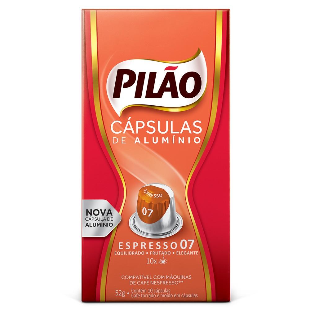 Cápsulas de Café Pilão Espresso 07 - Compatíveis com Nespresso® - 10 un.