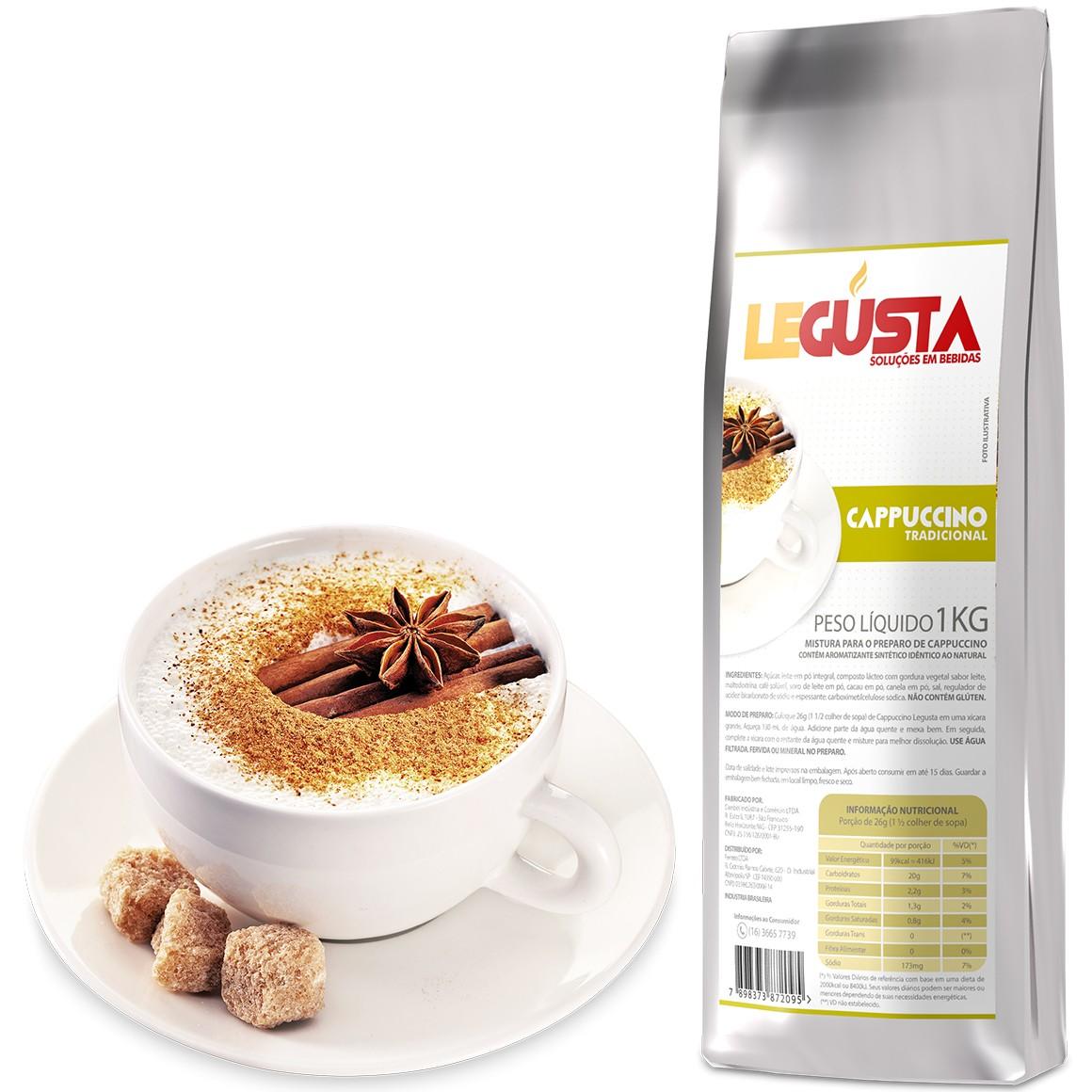 Cappuccino Solúvel Legusta 1kg