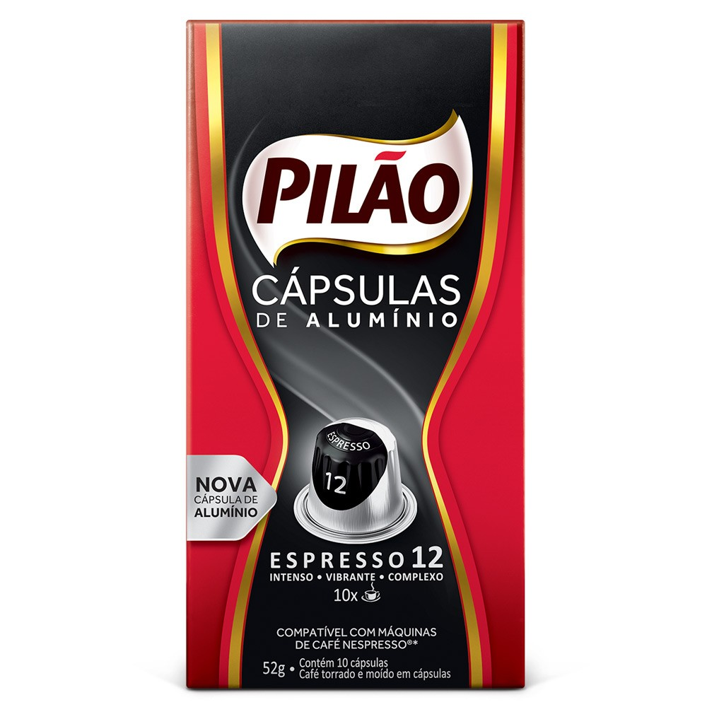 Cápsulas de Café Pilão Espresso 12 - Compatíveis com Nespresso® - 10 un.