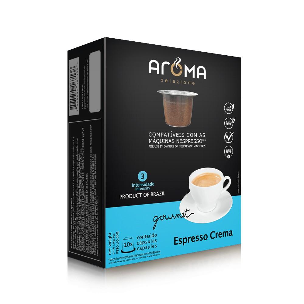 Cápsulas de Café Espresso Crema Aroma - Compatíveis com Nespresso® - 10 un.