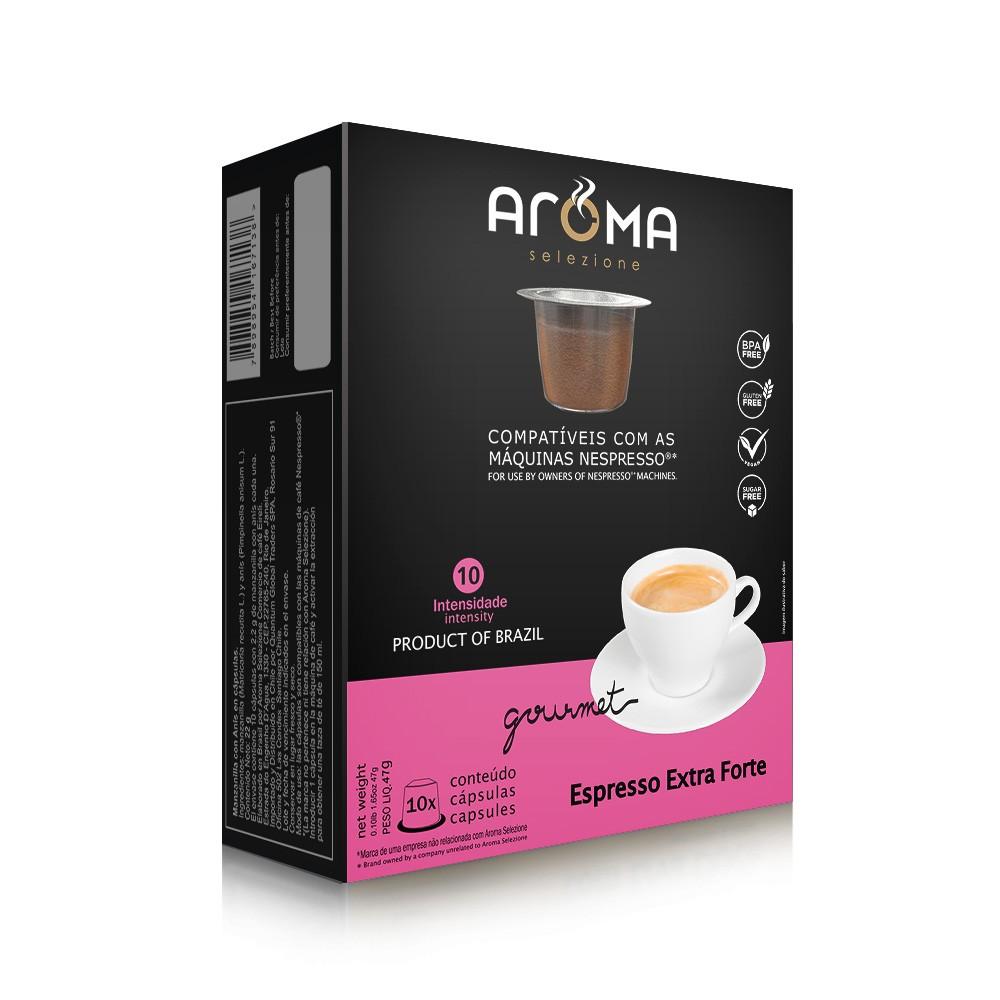 Cápsulas de Café Espresso Extra Forte Aroma - Compatíveis com Nespresso® - 10 un.