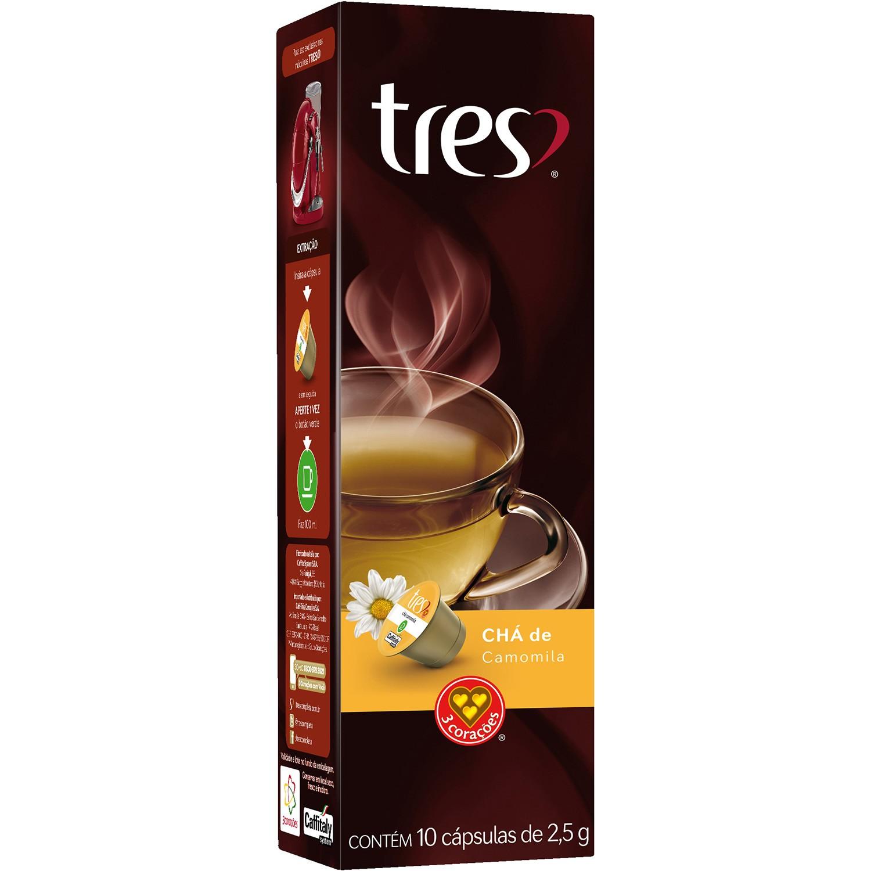 Cápsulas de Chá de Camomila 3 Corações - 10 un
