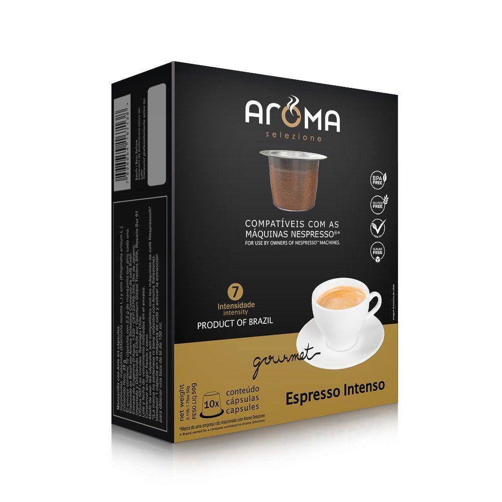 Cápsulas de Café Espresso Intenso Aroma - Compatíveis com Nespresso® - 10 un.