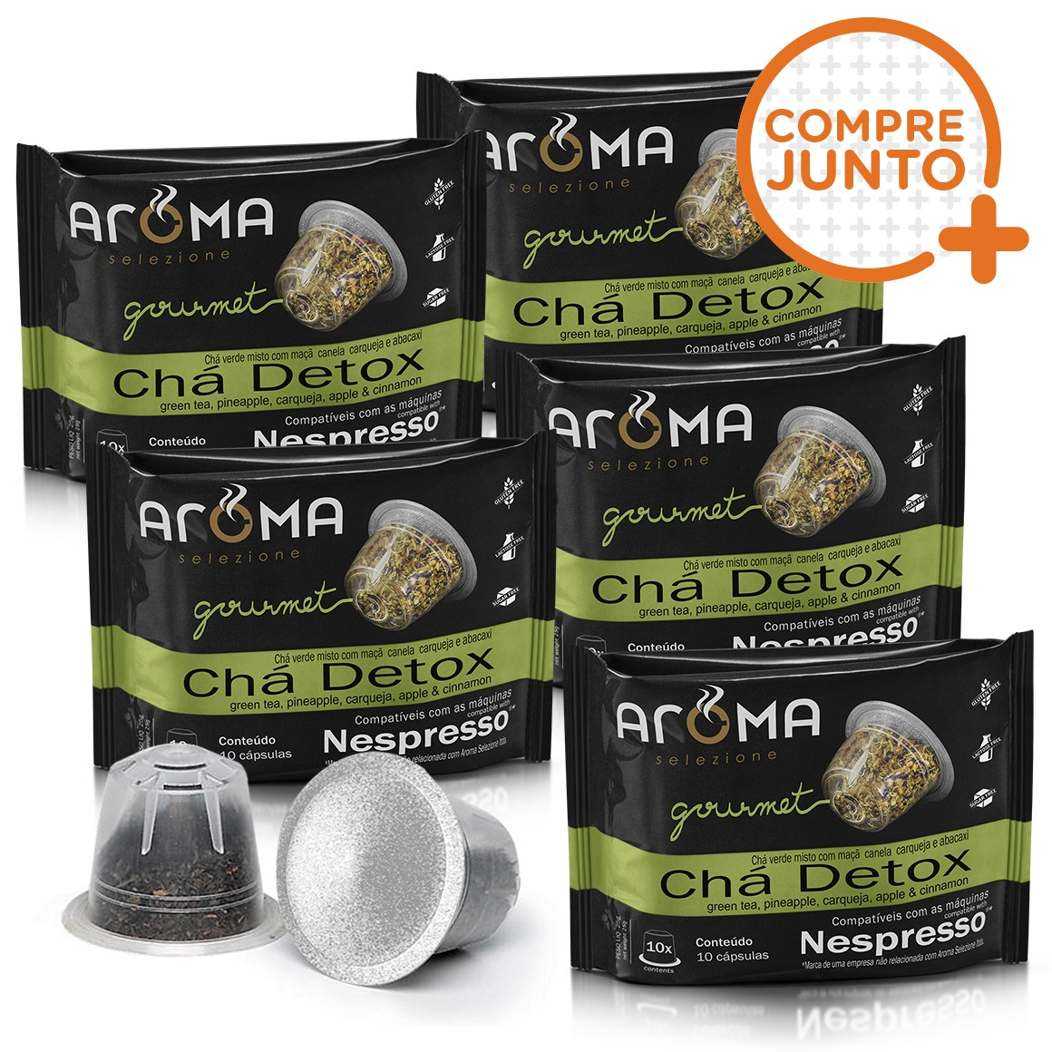 Kit Cápsulas de Chá Detox Aroma - Compatíveis com Nespresso® - 50 un.