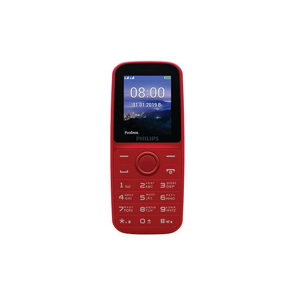 Мобильный телефон Philips Xenium E109 Red