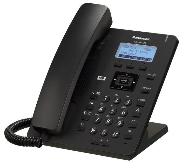 VoIP-телефон Panasonic KX-HDV130RUB черный