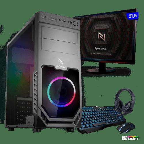 Kit PC Gamer Neologic Start NLI81418 Ryzen 3 2200G 8GB ( Radeon Vega 8 Integrado) SSD 480GB + Monitor 21,5