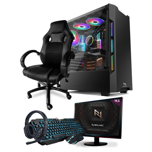 PC Gamer Completo Neologic Start NLI81451 Ryzen 3 2200G 8GB ( Radeon Vega 8 Integrado) SSD 480GB + Cadeira Gamer