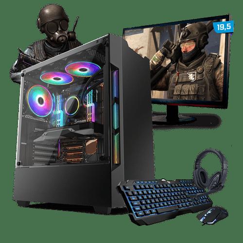 Kit PC Gamer Neologic Start NLI81425 Ryzen 3 2200G 8GB ( Radeon Vega 8 Integrado) HD 1TB + Monitor 19,5