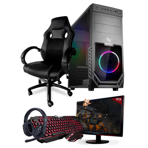 PC Gamer Completo Neologic Start NLI81441 Ryzen 3 2200G 8GB ( Radeon Vega 8 Integrado) SSD 240GB + Cadeira Gamer
