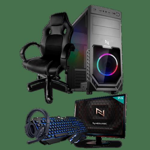 PC Gamer Completo Neologic Start NLI81442 Ryzen 3 2200G 8GB ( Radeon Vega 8 Integrado) SSD 480GB + Cadeira Gamer