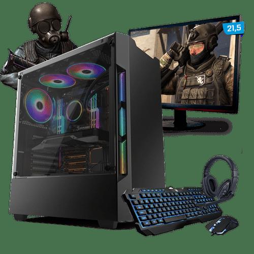 Kit PC Gamer Neologic Start NLI81413 Ryzen 3 2200G 8GB ( Radeon Vega 8 Integrado) 1TB + Monitor 21,5