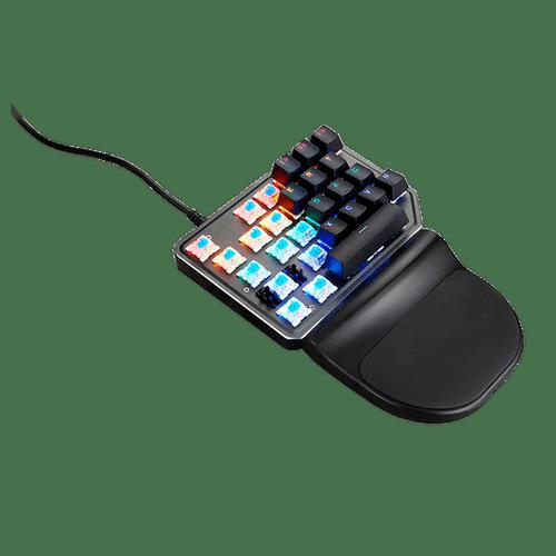Teclado Mecânico Gamer K27 Game Pad Preto Switch Outemu Azul Rainbow Motospeed