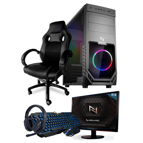 PC Gamer Completo Neologic Start NLI81440 Ryzen 3 2200G 8GB ( Radeon Vega 8 Integrado) 1TB + Cadeira Gamer