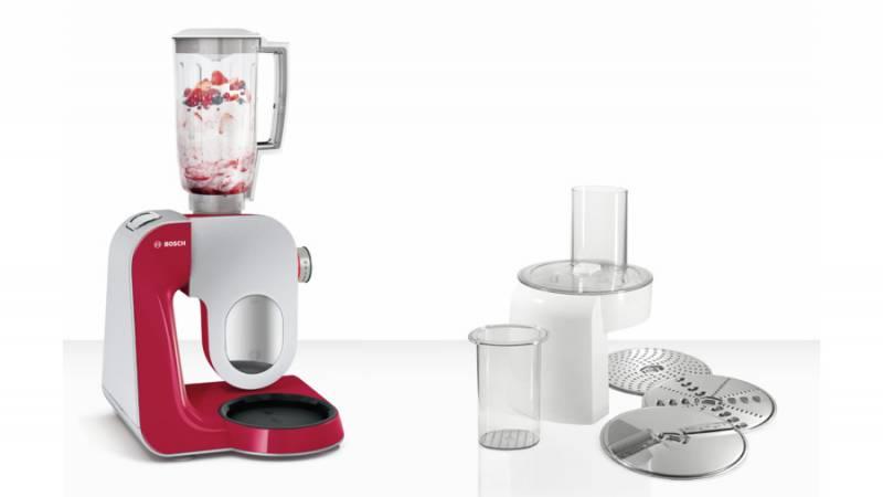 Кухонный комбайн Bosch MUM58720 1000Вт красный/серебристый