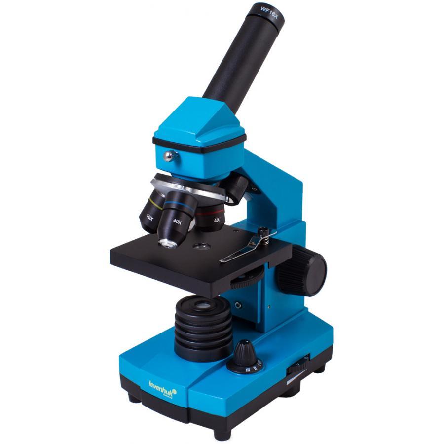 Микроскоп Levenhuk Rainbow 2L PLUS Azure Лазурь