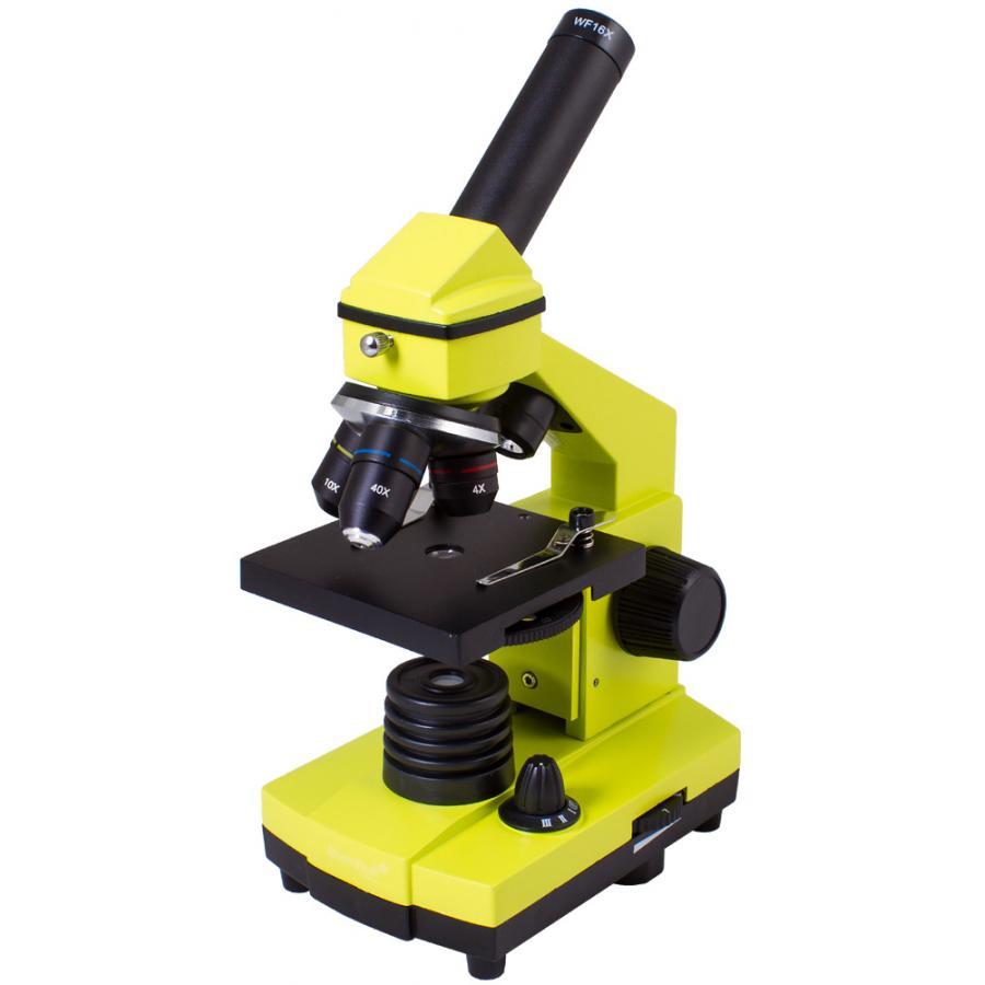 Микроскоп Levenhuk Rainbow 2L PLUS Lime Лайм