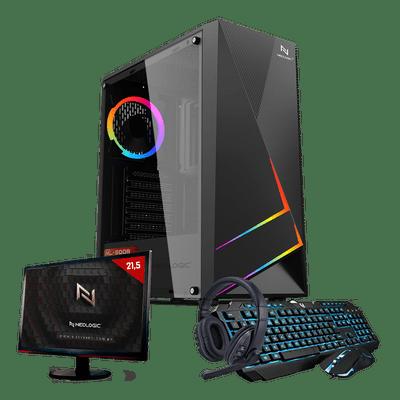 Kit PC Gamer Neologic Start NLI81626 Ryzen 3 3200G 8GB (Radeon Vega 8 Integrado) 1TB + Mon 21,5
