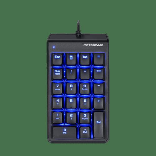 Teclado Mecânico K22 Game Pad Motospeed FMSTC0021AZL Preto Switch Outemu Azul Led Azul